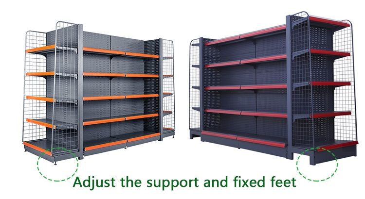 Supermarket Stacking Head Multi-layer Shelves Sample assembly